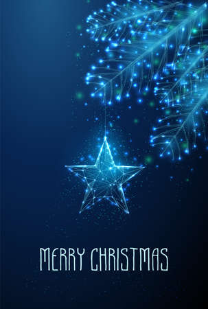 Happy new year and Merry Christmas greeting card.