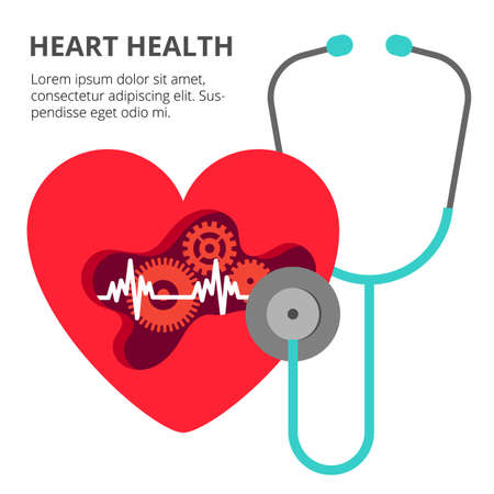 Health care cardiology creative concept. Healthy Heart with the