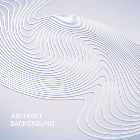 Vector soft color background of abstract waves. White elegant li