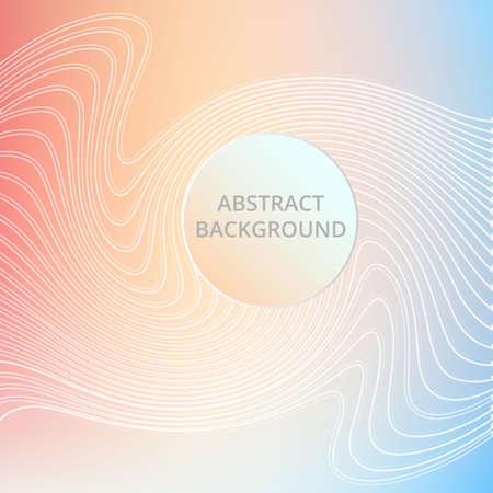 li: Vector soft color background of abstract waves. White elegant li