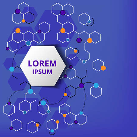 medical technology: Abstract background with a lot of colorful hexagons. Vector illustration in modern flat style for poster, hi-tech technology, medicine, web banners.