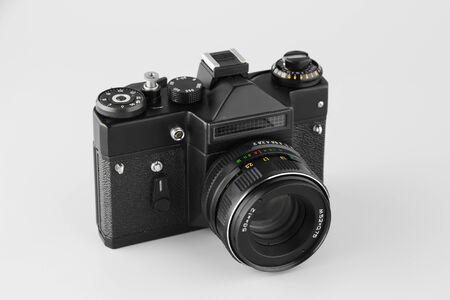 film camera on a white background Banco de Imagens
