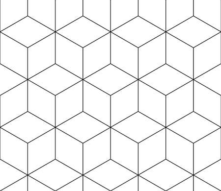 seamless black and white pattern of different geometric shapes