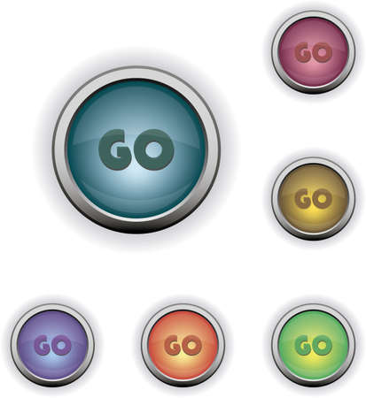 Web buttons GO Vector
