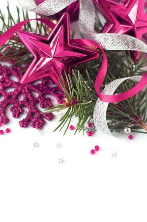 Pink christmas composition close-up