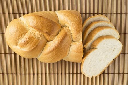 Sliced bread top view