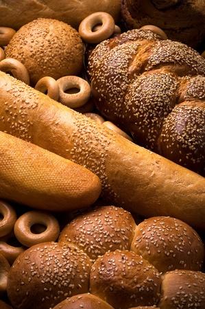 Fresh bread vertical composition photo