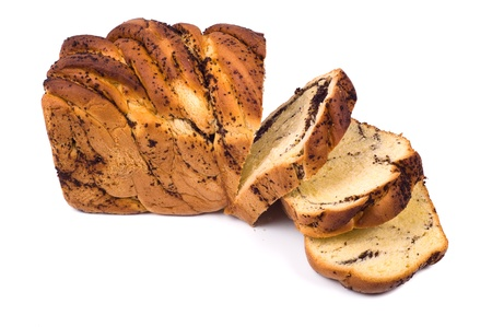 Sweet bread with poppy seed