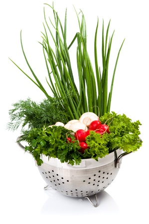 Fresh vegetables in the bowl Foto de archivo