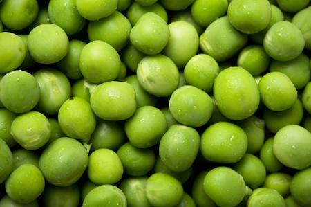 Fresh peas background Stock Photo