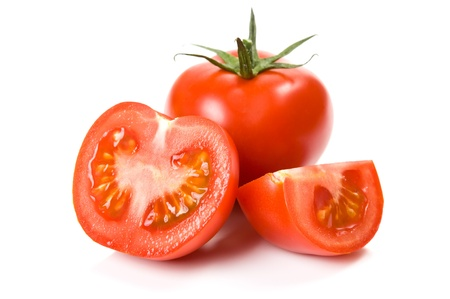 Juicy tomatoes isolated photo