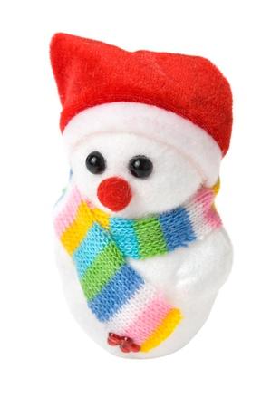 Snow santa isolated on the white photo