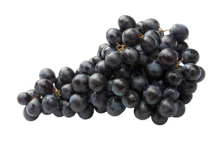 Red grape fully isolated. Stock Photo