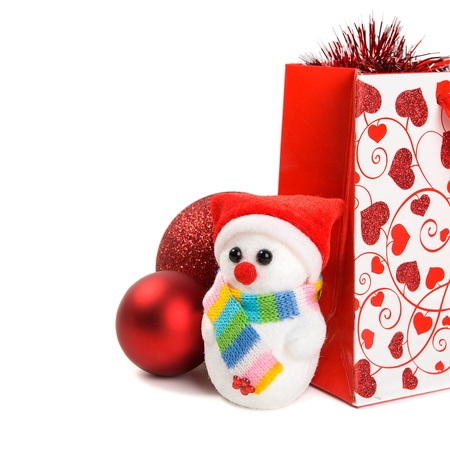 Xmas gift packet with decoration with copy space Stock Photo - 11698338