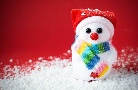 Snow santa on the red with vignette effect Foto de archivo