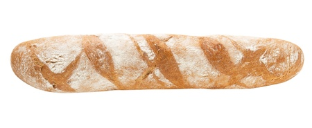 Baguette fully isolated photo