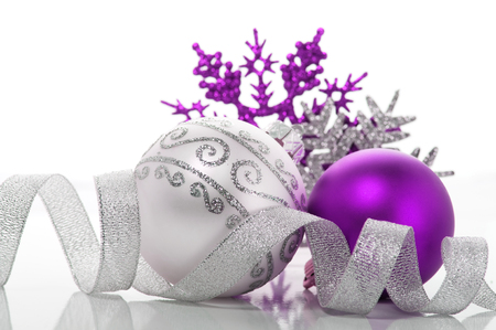 Purple and silver xmas decoration