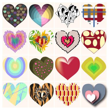 shelf of charming hearts
