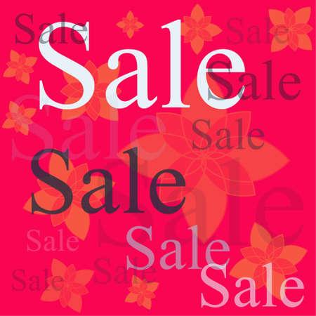 word sale on fuchsia background
