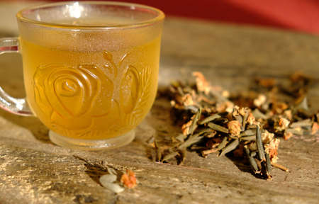 Medicinal herb sagan daila and healing tea, Rhododendron of Adamsia. Selective focus Reklamní fotografie