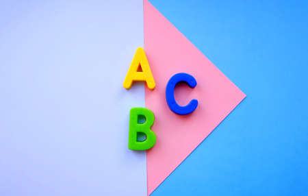 ABC letters alphabet on colorful background. education and back to school concept