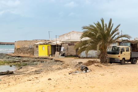 Buildings in the harbor area of Sal Rei, Boa Vista, Cape Verde