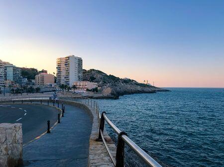View on the bay of Faro de Cullera, Valencia, Spain