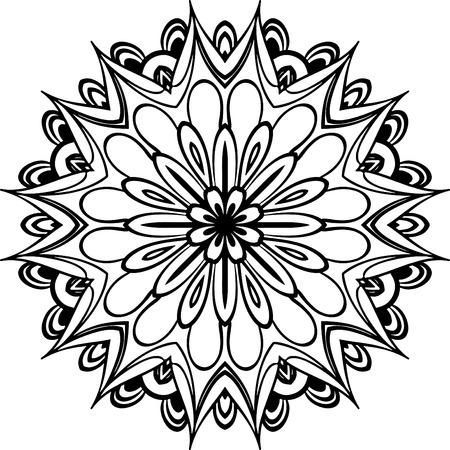 Mandala Ilustración Para Los Fondos, Libros Para Colorear, Patrón ...