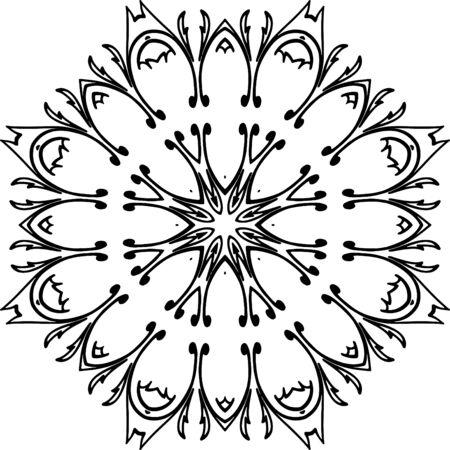 Ilustración De Mandala Para Colorear Libros, Diseños De Patrones ...