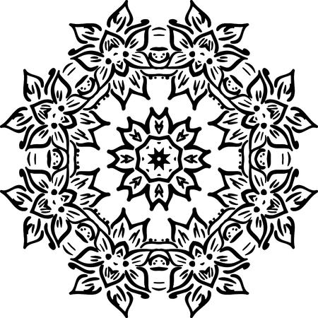 Mandala Illustration Für Hintergründe, Färbung Bücher, Muster ...