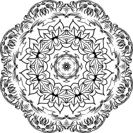 Ilustración De Mandala Para Fondos, Libros Para Colorear, Diseños De ...