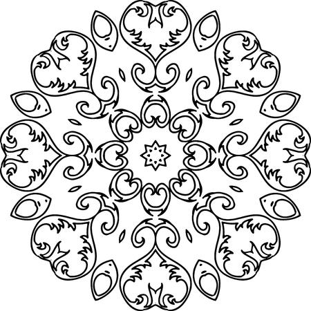 Mandala Ilustración Para Los Fondos, Libros Para Colorear, Diseños ...