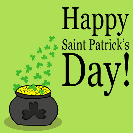 Card designed for st.patricks day in green colors