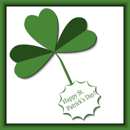leafed: Card designed for st.patricks day in green colors