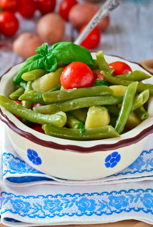 green bean: New Potato And Green Bean Salad Wish Balsamic Vinaigrette