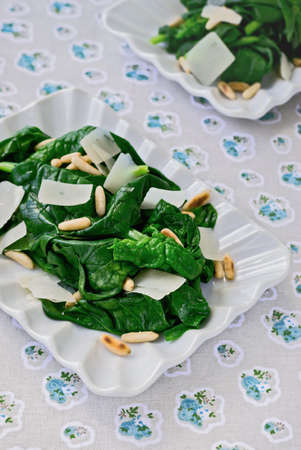 parmesan cheese: Spinach Salad with Parmesan Cheese