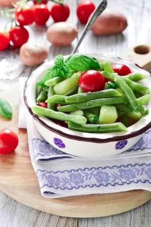 fingerling: Fingerling potatoes and green bean salad