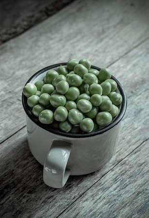 fresh green peas toned image Stock Photo