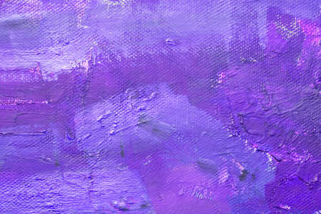 Canvas with oil paints purple colors. Bright saturated abstract background, space for text. The concept of a creative atmosphere, artistic events, education, etc. Фото со стока