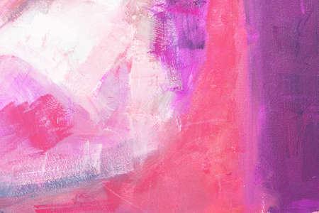 wet paint: colored canvas with oil paints