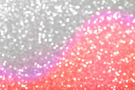 Sparkling trend coral and silver abstract background. Фото со стока