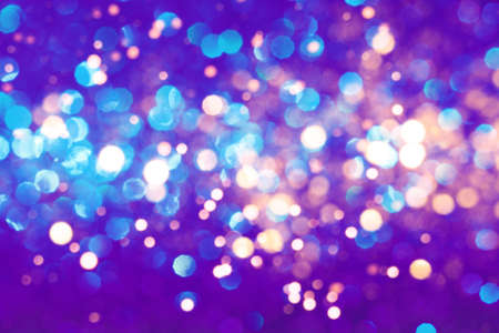 Neon festive background with sparkles in the bokeh. The concept of the celebration, the day of Christmas, New Year, birthday, ceremonies, events, etc. Archivio Fotografico - 134738111