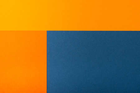 Abstract geometric paper background. Trendy blue and orange colors, active lines.
