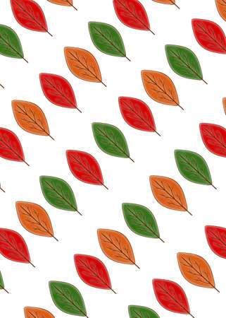Colorful autumn leaves on a white background. Seamless pattern. Stock fotó