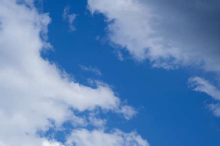 Blue sky with white clouds, background, texture