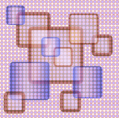 pink brown: Abstract background with squares blue, pink, brown