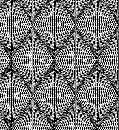 lozenge: Abstract background from black-and-white rhombs illustration