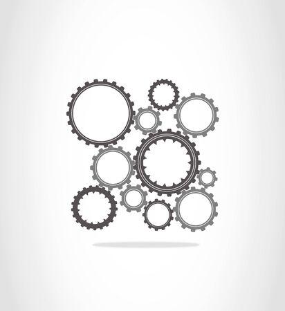 pinion: The gray and dark gray gears