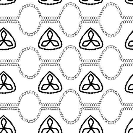 illustation: Pattern with flowers and stripes vector illustation