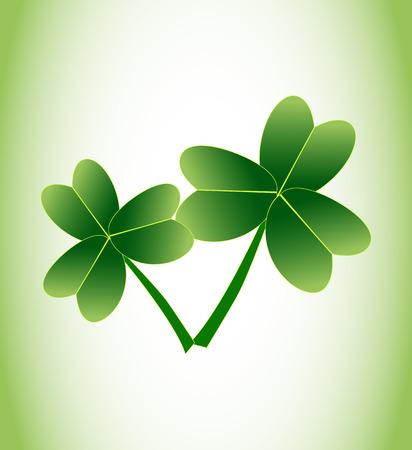 stpatrick: Two leaf clover. St.Patrick s Day.